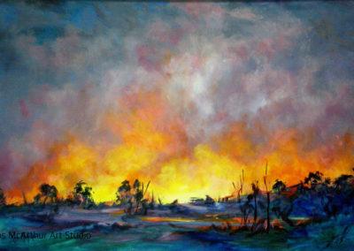 Fire Sky (2) 76 x 50cm